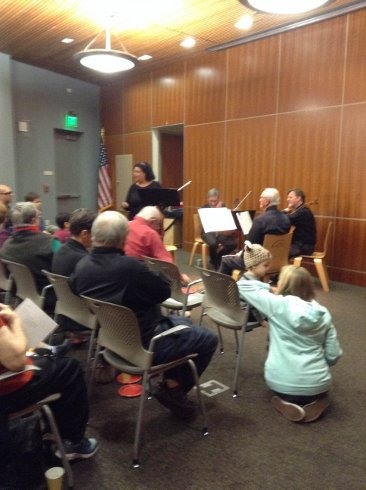 South Valley Symphony String Quartet performs.