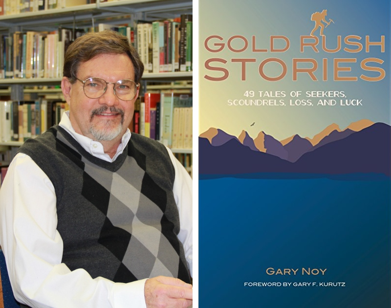Gary Noy & book cover of Gold Rush Stories